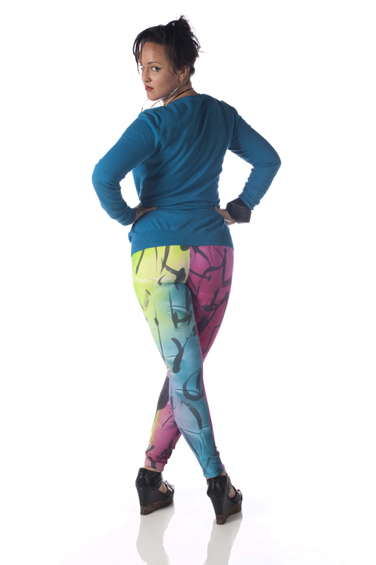 Hand-Painted and Hand-Dyed Leggings (Various Colors)