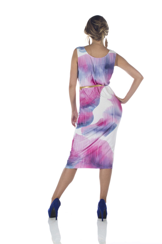 Hand Painted Bamboo Knit Dress (Various Colors)