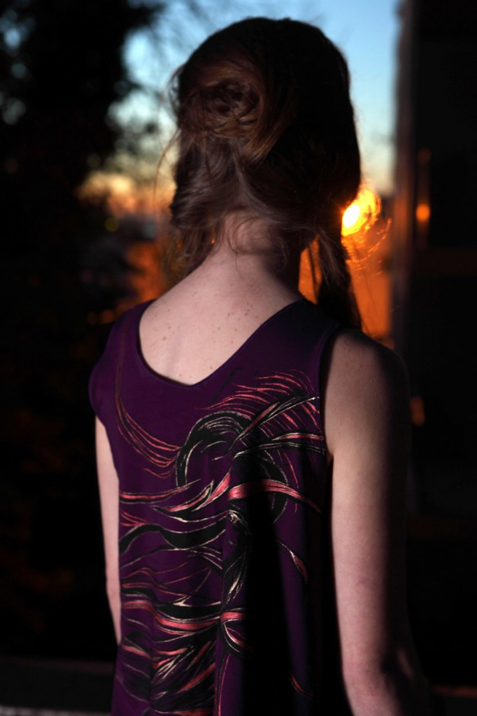 Hand-painted and Screen-printed Cotton Tank